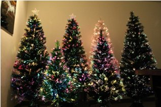 Fiber Optic Christmas Trees