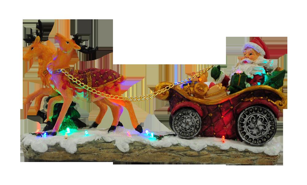 Christmas moving santa